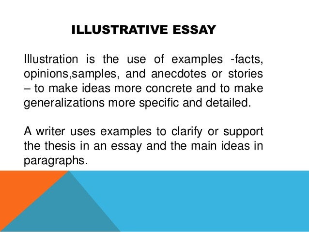how to write an illustrative essay in pdf