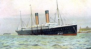 Colorful image of RMS Oceanic
