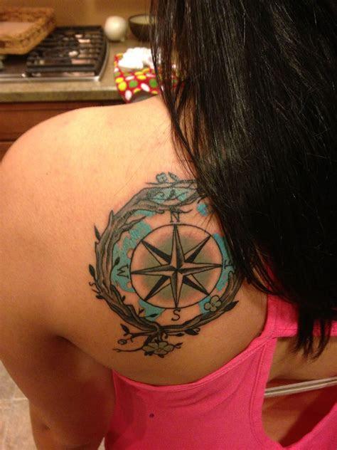 compass tattoo girltattoo backtattoo tattoos cool