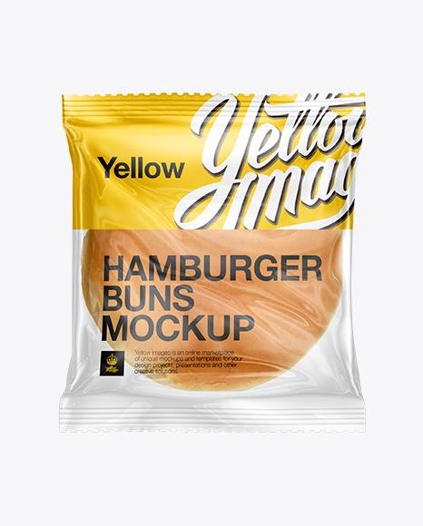 Download Psd Mockup Bag Bakery Buns Burger Clear Plastic Fast Food Food Mockups Hamburger Individually Wrapped