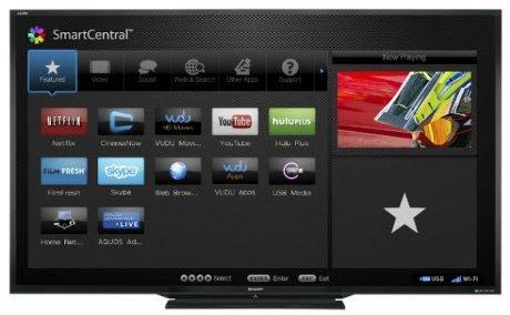 televisi canggih Sharp AQUOS 90-inch LED TV oleh segiempat