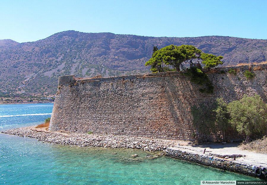Крепость острова Спиналонга - юго-западная часть