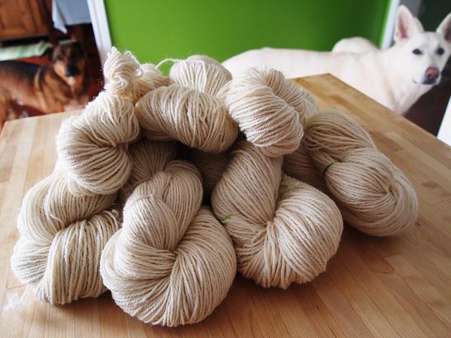 36oz Falkland, undyed, 3-ply yarn