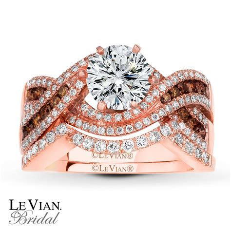 Rose Gold Le Vian engagement ring. I'm even surprised with