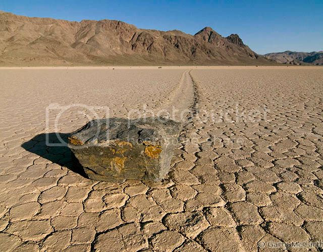 One of sailing stones in the Death Valley National Park