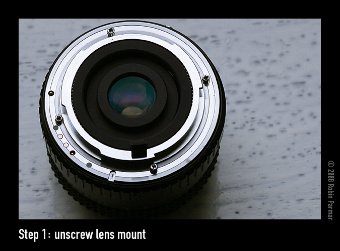 Step 1: unscrew lens mount
