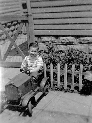 Boy in Pedal Car