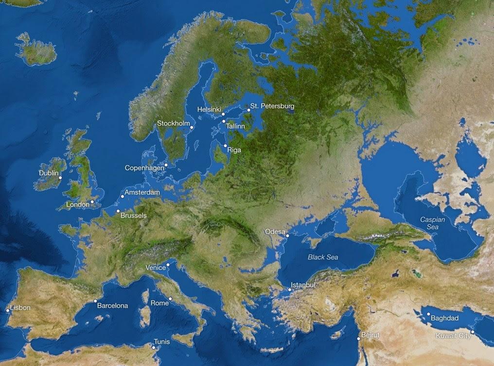 La Tierra sumergida europa