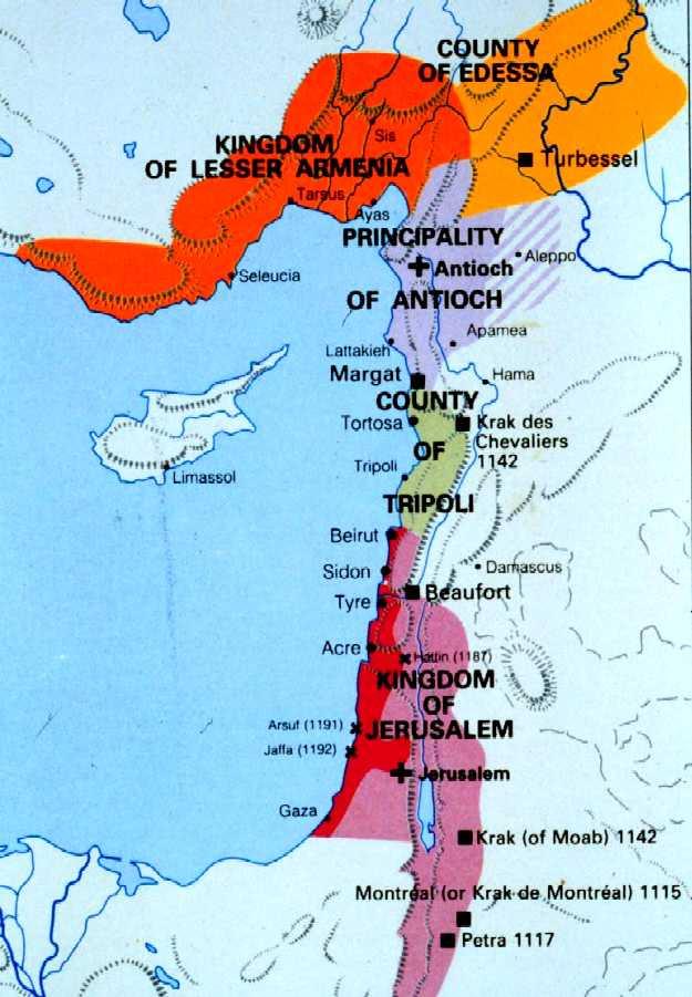 Risultati immagini per kingdom of jerusalem map
