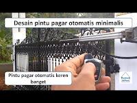 Pintu pagar otomatis keren - desain pagar minimalis