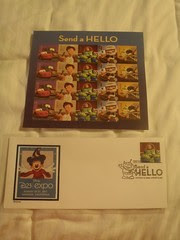 D23 Expo Disney First Day of Issue Stamps