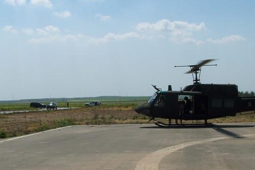 Arrival in Erbil - Suburbans arriving at left
