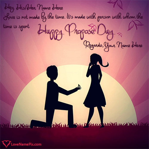 Propose Day Romantic Quotes With Name Editor
