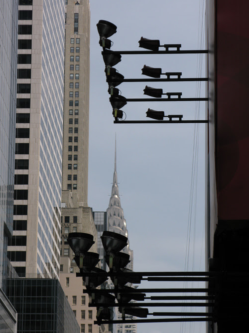 composition with the Chrysler Building, Manhattan, NYC