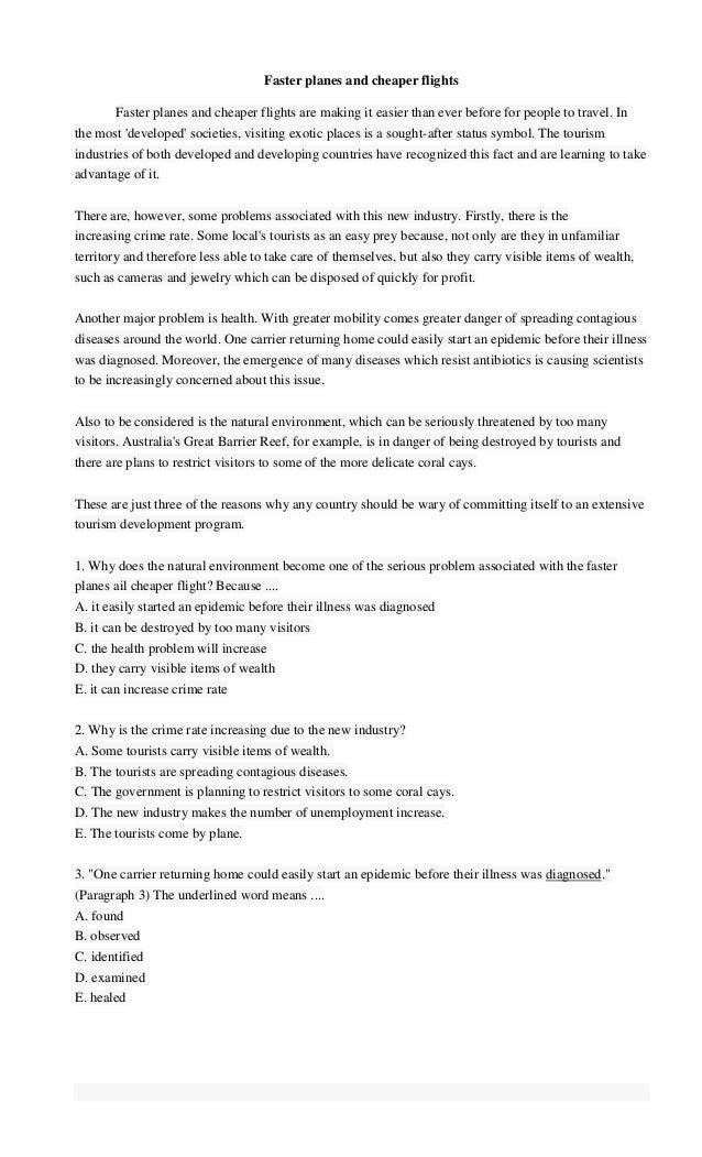 Soal dan Jawaban Teks Reading (Reading Text) Bahasa Inggris