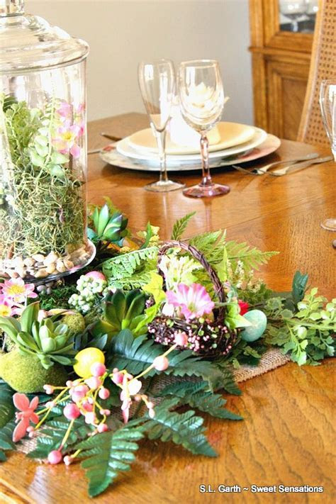 Fern and Floral Spring Tablescape