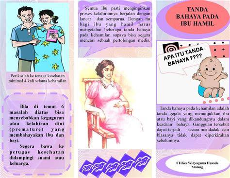 leaflet tanda bahaya  ibu hamil bidan daisy