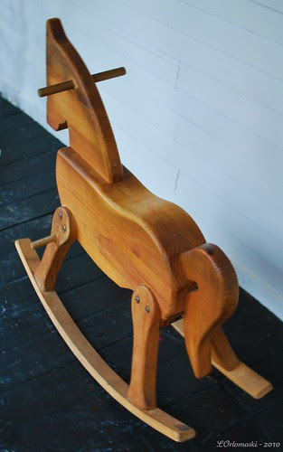 Rocking horse on the porch
