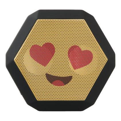 Funny Smiley Face. Emoji. Emoticon. Black Bluetooth Speaker