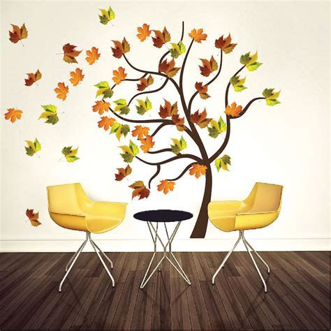 Autumn Tree Wall Decal Mural   Fall Tree Decals   Primedecals