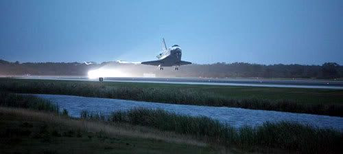 Space shuttle Discovery lands at Kennedy Space Center in Florida...completing STS-116 on December 22, 2006.