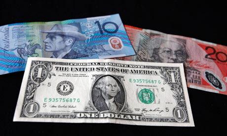US dollar with Australian dollar