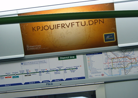 Da Vinci Code Tube Ad