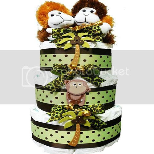 My Little Monkey New Baby Diaper Cake