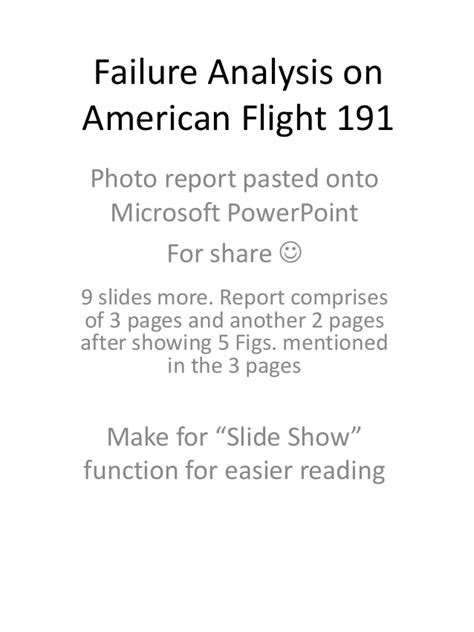 Failure analysis on american flight 191