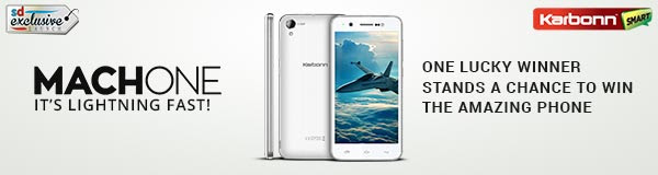 Tweet and win Karbonn MachOne