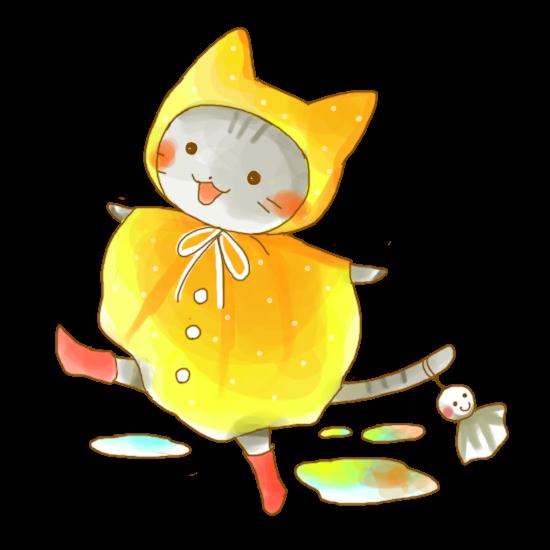 6月猫ちゃんのイラスト かわいいフリー素材が無料のイラストレイン