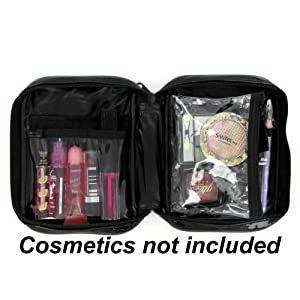 Amazon.com: 5 X 7 4 Slot Clear Cosmetic Bag - Case Pack 100 SKU