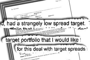 On Sept. 29, 2006, Magnetar's CDO specialist Jim Prusko wrote to  bankers at Societe Generale and Ischus executives that he thought the  CDO's portfolio had a 'strangely low spread target.'