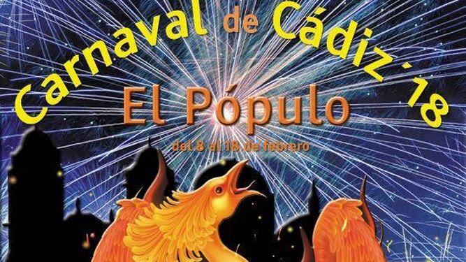 El cartel del Carnaval en el barrio de Pópulo.
