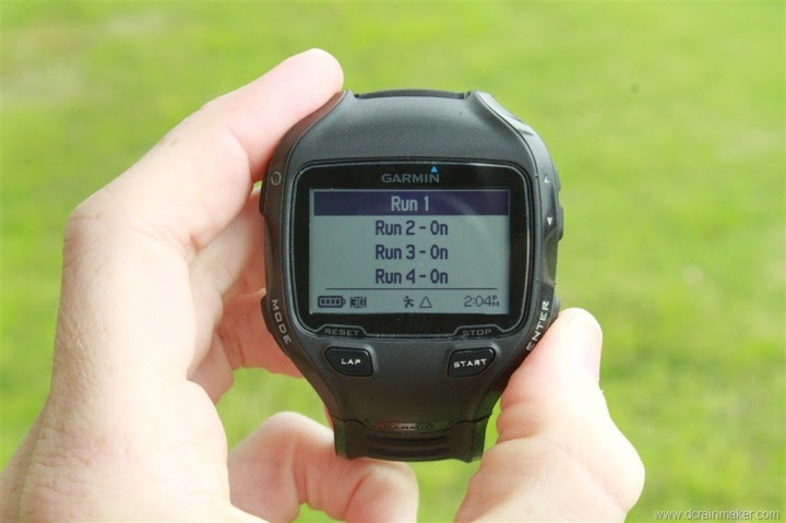 Garmin FR910XT Run Data Field Customization