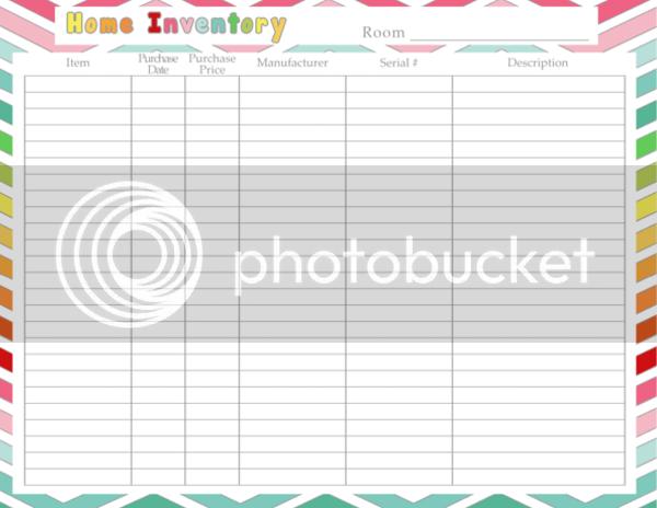 DIY Home Sweet Home: Home Inventory Printable