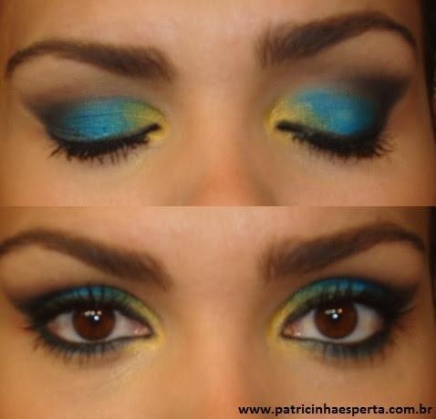 051post Tutorial   Maquiagem Azul e Dourado para Baladas e Festas