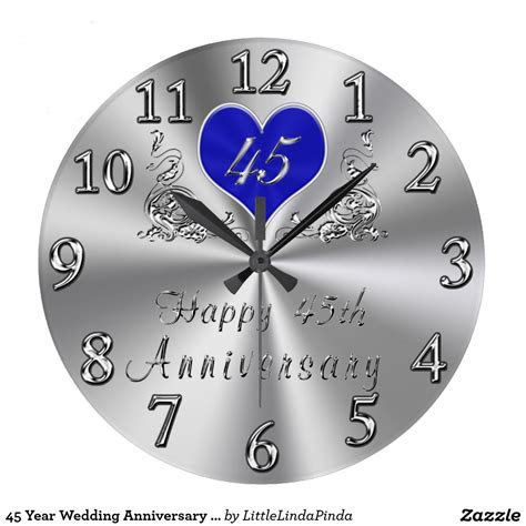 45 Year Wedding Anniversary Gifts Sapphire CLOCK   45th