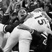 Cincinnati players and fans after George Foster (15) scored the deciding run of the 1972 N.L.C.S. on a wild pitch by Pittsburgh.