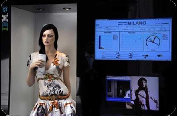 Manequim espião foi apresentado pela empresa Almax durante a semana de moda de Milão (Foto: Almax)