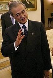 English: Abdullah Badawi, Prime Minister of Ma...