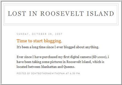 New blog - lost in RI