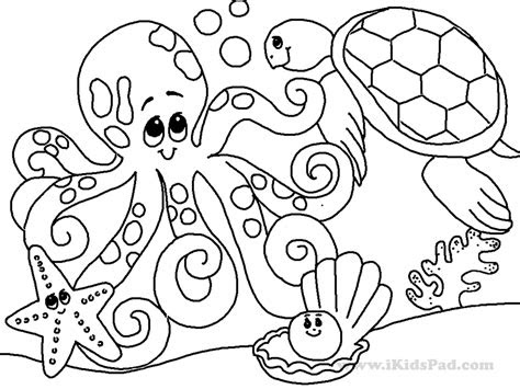 printable coloring page sea ocean animals  coloring pages