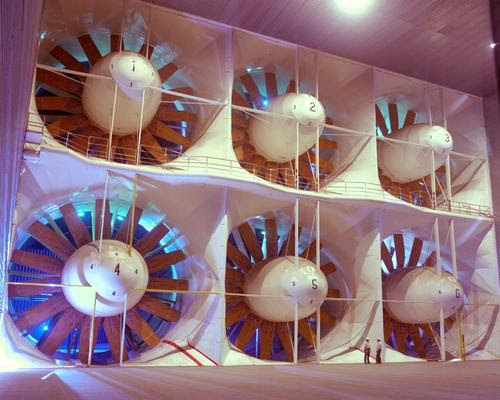Large machinery in big buildings needs to be protected from electrical surges caused by lightning. NASA's Ames Research Center uses surge suppressors on its giant wind tunnels.   (Source: NASA Ames/Tom Trower)
