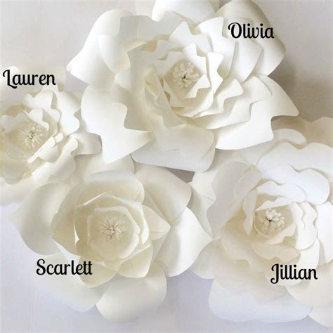 DIY Paper Flower Templates   HANDMADE WEDDING   SHOP