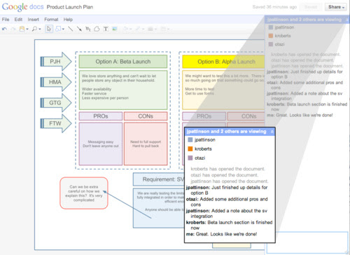 Google Docs Updates with a Drawing Editor, Real-Time Collaboration, and Speed