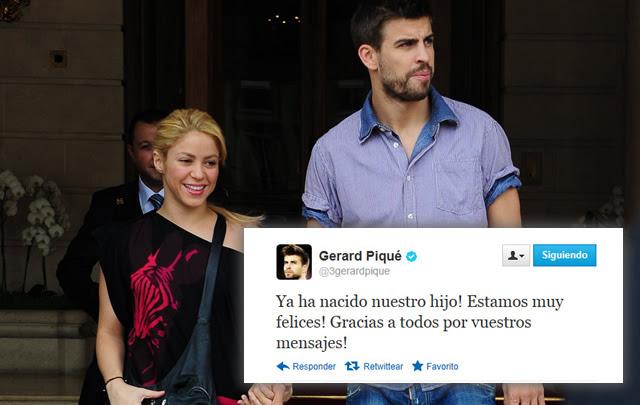 Nació el primer hijo de Shakira y el futbolista Gerard Piqué