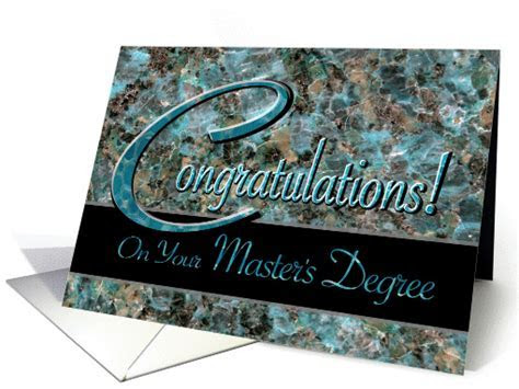 Congratulations on Master's Degree Turquoise Stone card