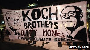 Protest against Koch Brothers