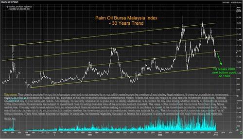 Palm oil 30 yr trend